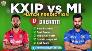 IPL 2020 – Match 36, MI vs KXIP Dream11 Team Prediction Today Match