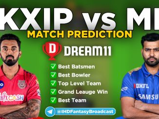 IPL 2020 – Match 36, MI vs KXIP Dream11 Team Prediction Today Match
