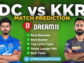 IPL 2020 – Match 16, DC vs KKR Dream11 Team Prediction Today Match