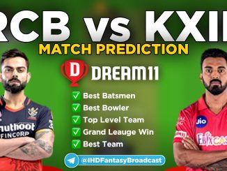 IPL 2020 – Match 31, RCB vs KXIP Dream11 Team Prediction Today Match