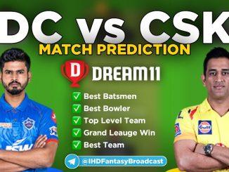 CSK vs DC Dream11 team prediction