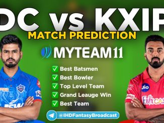 Dc vs KXIP MyTeam11 fantasy team