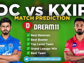 IPL 2020 – Match 38, KXIP vs DC Dream11 Team Prediction Today Match