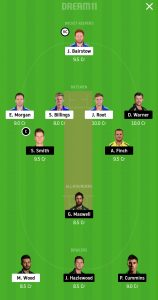 ENG vs AUS Dream11 Team for small league