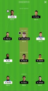 ENG vs AUS Dream11 Team for grand league