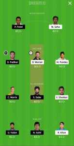 SRH vs RCB Dream11 Team for Grand League