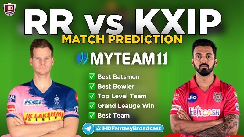 RR vs KXIP myteam11 fantasy team