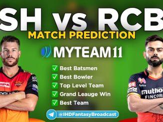 SRH vs RCB Myteam11 fantasy team