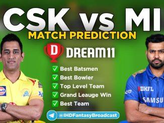 IPL 2020 – Match 41, CSK vs MI Dream11 Team Prediction Today Match