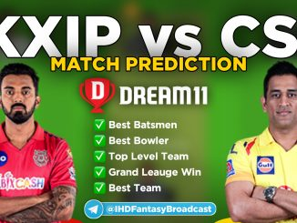 IPL 2020 – Match 53, CSK vs KXIP Dream11 Team Prediction Today Match