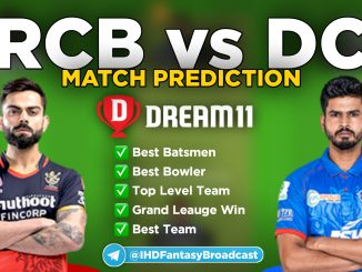 IPL 2020 – Match 55, DC vs RCB Dream11 Team Prediction Today Match