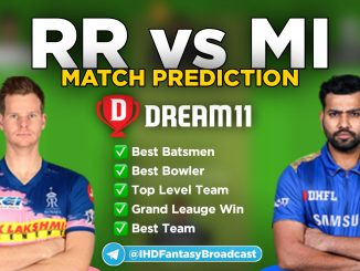 IPL 2020 – Match 45, RR vs MI Dream11 Team Prediction Today Match