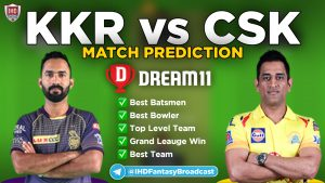 IPL 2020 – Match 49, CSK vs KKR Dream11 Team Prediction Today Match
