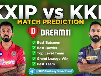 IPL 2020 – Match 46, KKR vs KXIP Dream11 Team Prediction Today Match