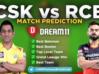 IPL 2020 – Match 44, RCB vs CSK Dream11 Team Prediction Today Match