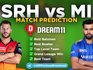 IPL 2020 – Match 56, SRH vs MI Dream11 Team Prediction Today Match
