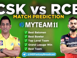 CSK vs RCB myteam11 fantasy team
