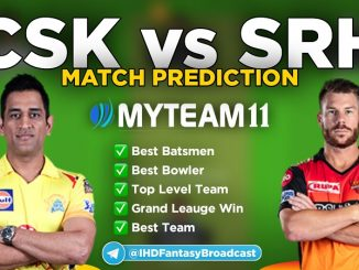 CSK vs SRH Myteam11 fantasy team