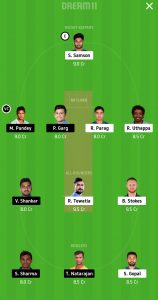 RR vs SRH Dream11 Team for Grand League