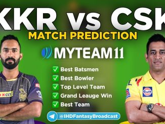 KKR vs CSK myteam11 fantasy team