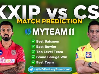 KXIP vs CSK myteam11 fantasy team