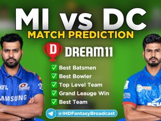 IPL 2020 – Final, MI vs DC Dream11 Team Prediction Today Match