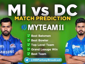 MI vs DC myteam11 fantasy team