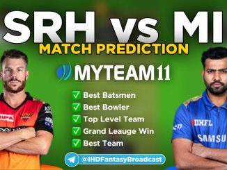 MI vs SRH myteam11 fantasy team