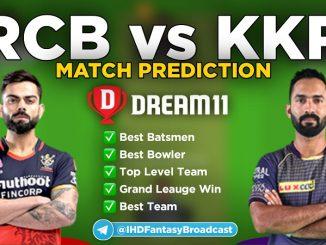 IPL 2020 – Match 39, KKR vs RCB Dream11 Team Prediction Today Match
