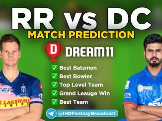 IPL 2020 – Match 30, DC vs RR Dream11 Team Prediction Today Match