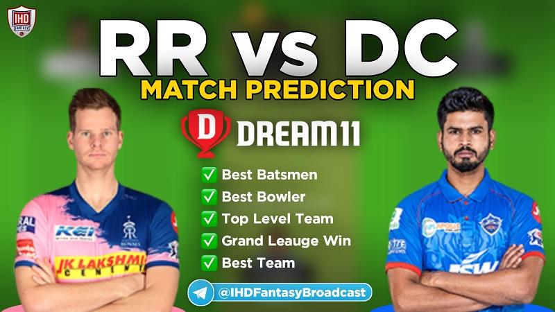 IPL 2020 – Match 30, DC vs RR Dream11 Team Prediction Today Match