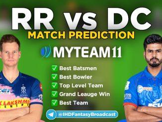 RR vs DC myteam11 fantasy team