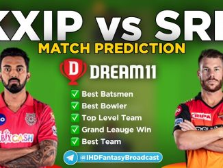 IPL 2020 – Match 43, KXIP vs SRH Dream11 Team Prediction Today Match