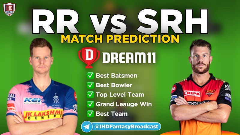 IPL 2020 – Match 40, RR vs SRH Dream11 Team Prediction Today Match