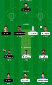 PES vs LAH Dream11 Team for grand league