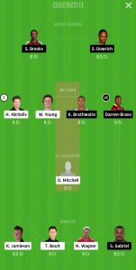 NZ vs WI Dream11 Team for Grand League