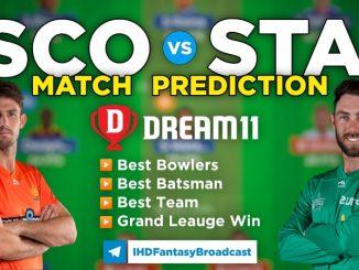 SCO vs STA Dream11 Team Prediction