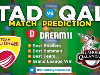 T10 League 2021 – 3rd Place Play-off, QAL vs TAD Dream11 Team Prediction Today Match