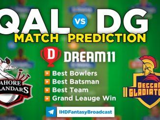 T10 League 2021 – Match 12, QAL vs DG Dream11 Team Prediction Today Match