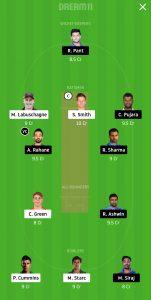 AUS vs IND Dream11 Team for Small League