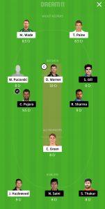 AUS vs IND Dream11 Team for Grand League