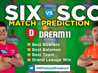 SIX vs SCO Dream11 team prediction