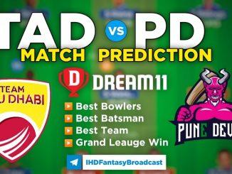TAD vs PD Dream11 Team Prediction