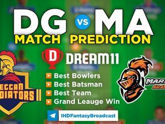 DG vs MA Dream11 Team Prediction