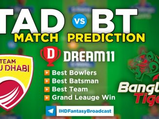 T10 League 2021 – Match 24, TAD vs BT Dream11 Team Prediction Today Match