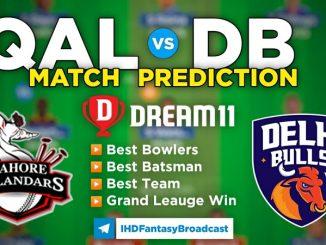 QAL vs DB Dream11 Team Prediction