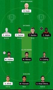 LAH vs QUE Dream11 Team for Grand league