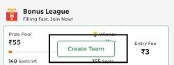 fantafeat create team