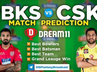 PBKS vs CSK Dream11 Team Prediction 8th Match IPL 2021 (100% Winning Team)