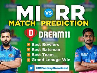 MI vs RR Dream11 Team Prediction 24th Match IPL 2021 (100% Winning Team)